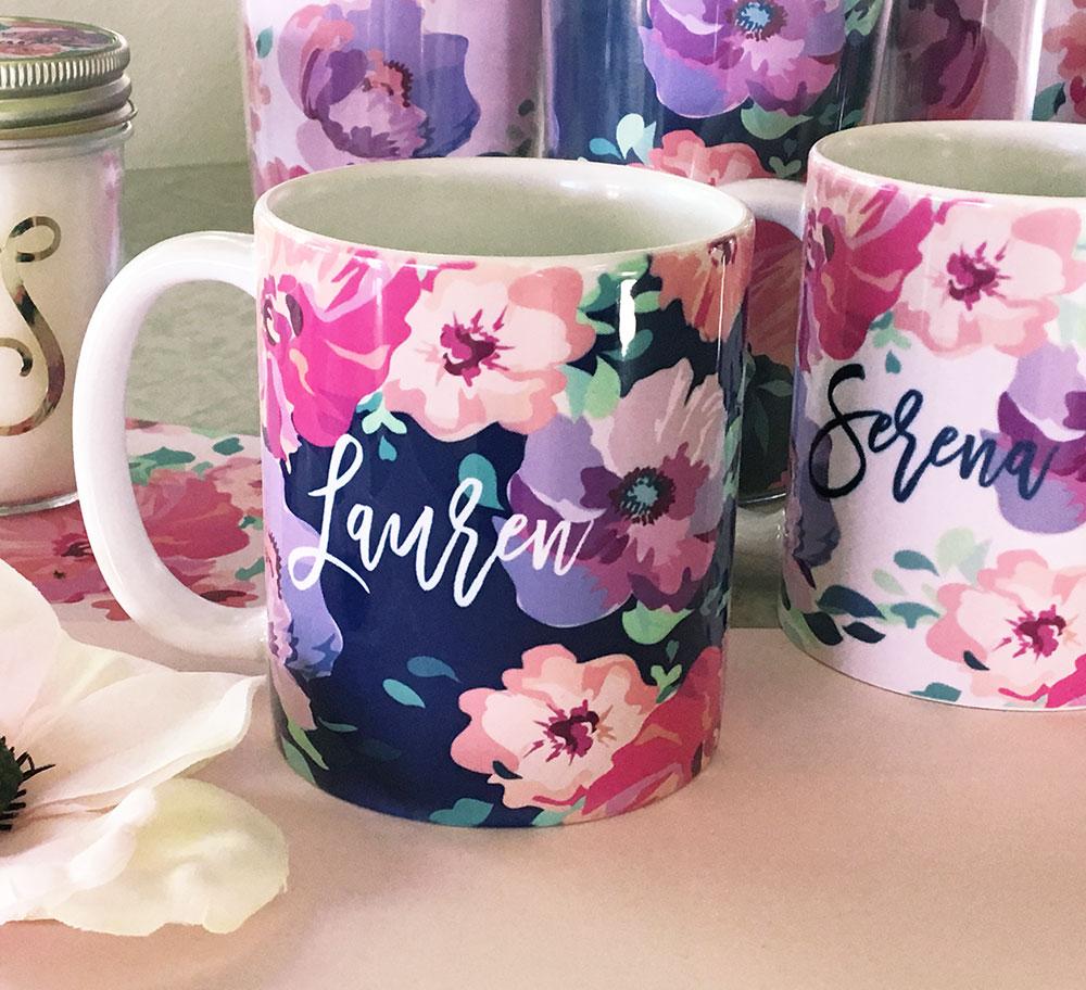 EB3179FL-Floral Coffee Mugs