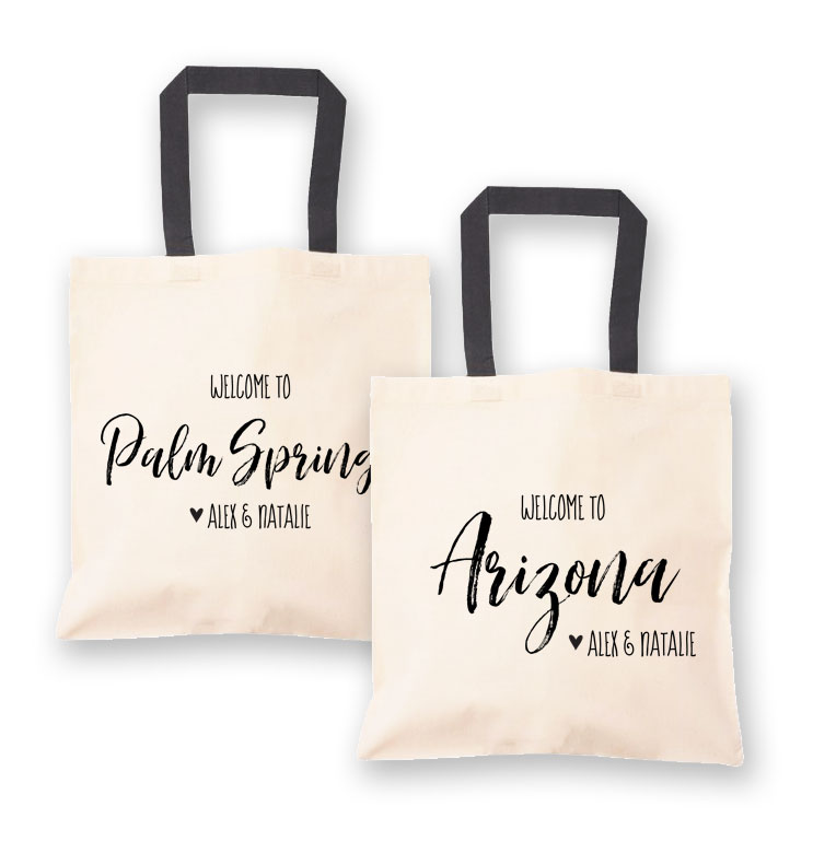 EB3216STA-State Canvas Welcome Tote Bag