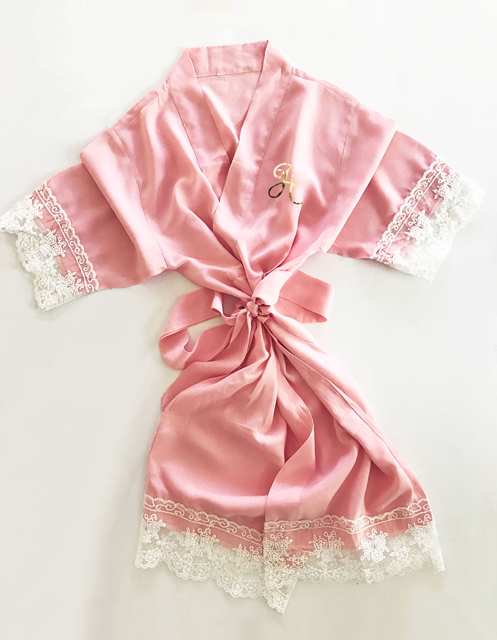 EB3223M-Cotton Lace Monogram Child Robes