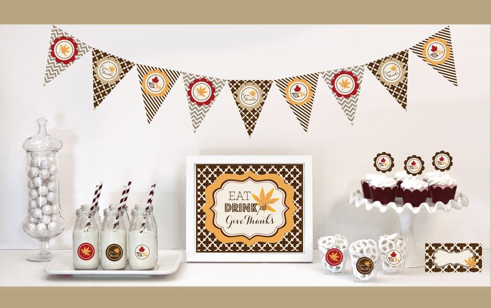 EB4000THK-Thanksgiving Decorations Starter Kit