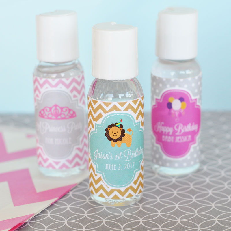 EB4009MDK-Personalized Mod Kid's Birthday Hand Sanitizer