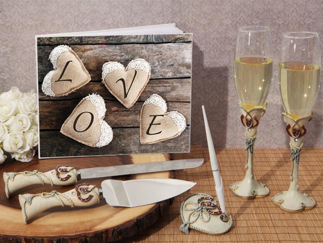 WSET9623-Vintage Love Wedding Accessory Set