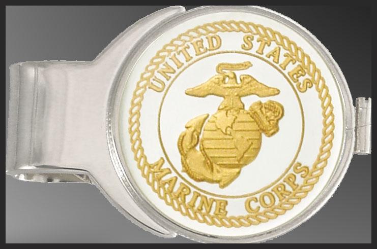 C287-MMC2 US Marine Corps Medallion Money Clip