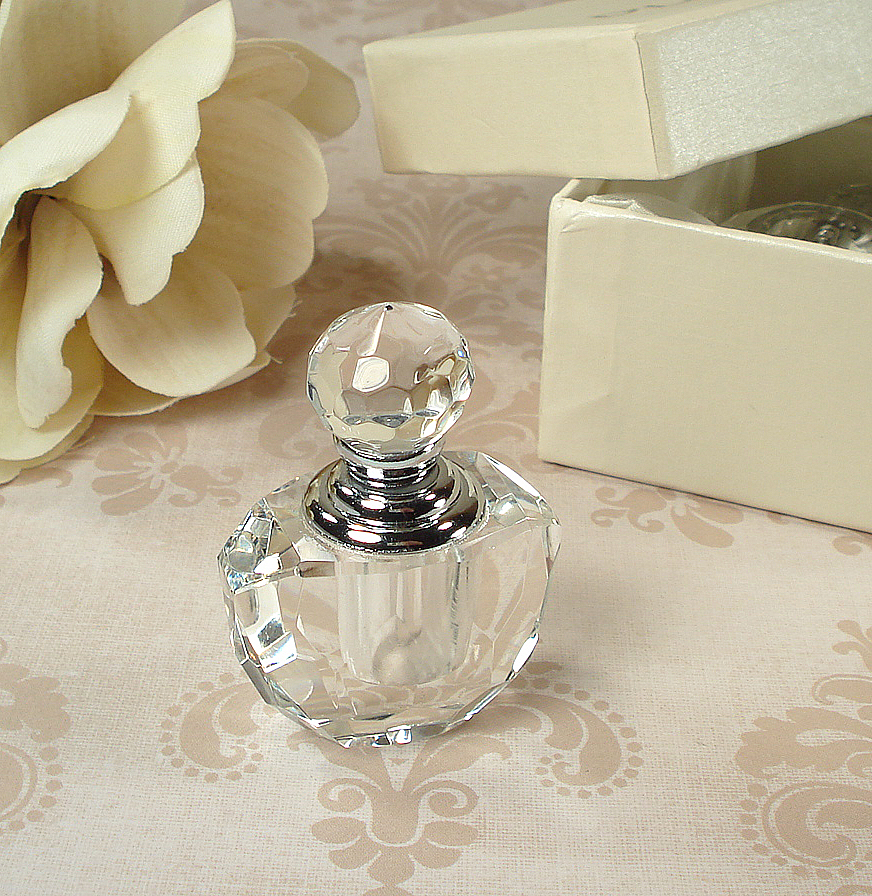 CR-Perfume-Mini Crystal Perfume Bottle In Satin Lined Heart Box