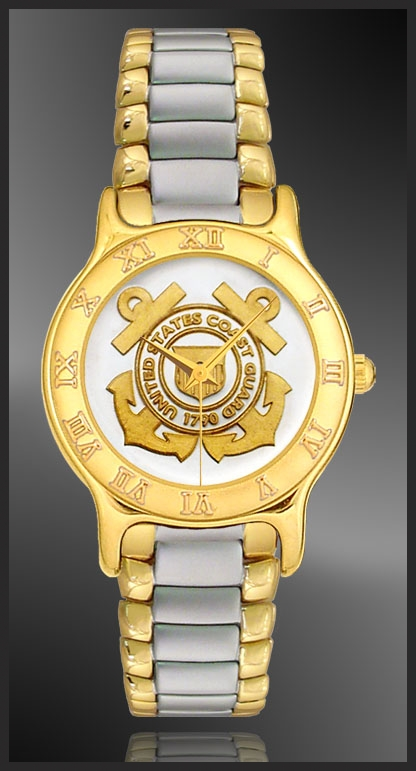R333-MCG2-L2 US Coast Guard Ladies Bracelet Medallion Watch