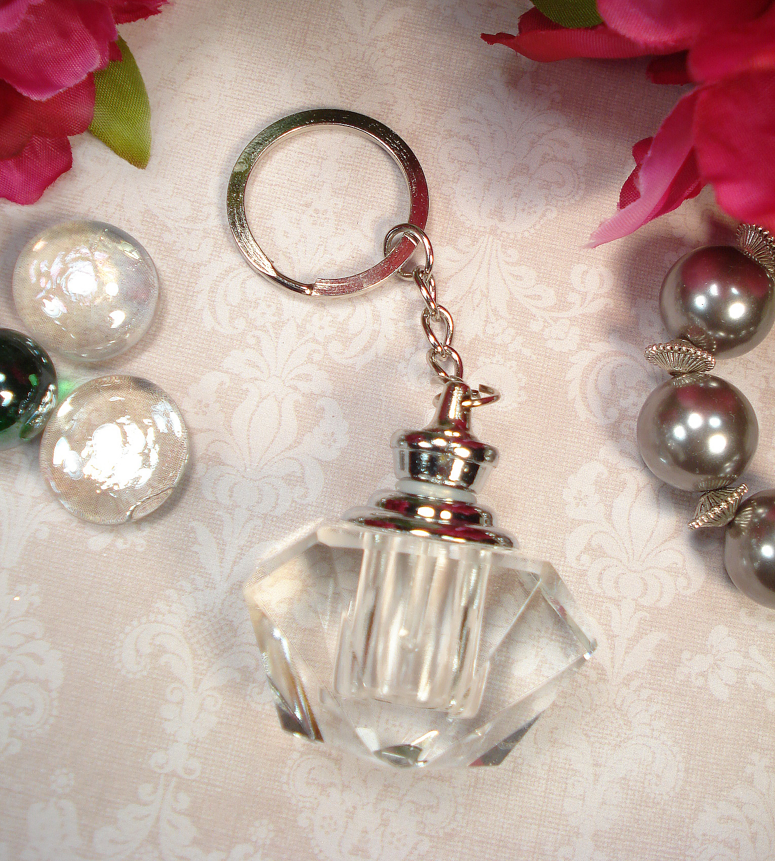 W8820-Crystal Perfume Bottle Keychain