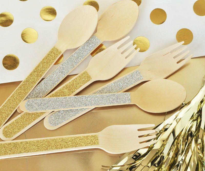 EB3082-Glitter Spoons & Forks Set Of 24