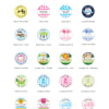 1573100--Baby Shower Personalized Magnets 1 Inch