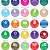 3704000--2 Inch Circle Favor Label Silhouette Collection Set Of 15