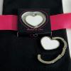 White Heart Shaped Purse Hook
