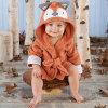 Rub A Dub, Fox In The Tub Hooded Spa Robe---