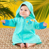 Tropical Toucan Hooded Beach Zip Up-personalized with babys name or monogram on the right chest for an additional charge--