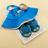 Tropical Beach Hat And Flip Flop Gift Set---