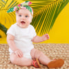 Tropical Headband And Flip Flop Gift Set---