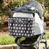 Baby Aspen 360 Signature Diaper Bag--Black And White Floral-