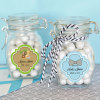 EB3024B-Personalized Baby Shower Glass Jar With Swing Top Lid Small