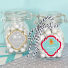 EB3024W-Personalized Winter Glass Jar With Swing Top Lid Small
