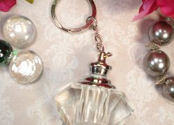 Crystal Perfume Bottle Keychain