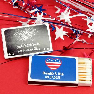 9221776--Patriotic Matches Set Of 50 White Box