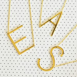 EB3208-Large Initial Necklace