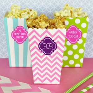 EB4008P-Personalized Popcorn 'N Treats Boxes Set Of 12