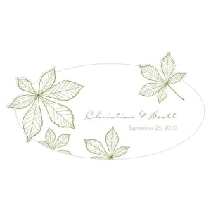 Autumn Leaf Small Cling Willow Green