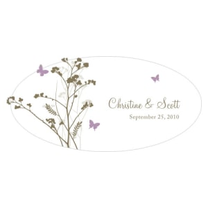 Romantic Butterfly Large Cling Lavender