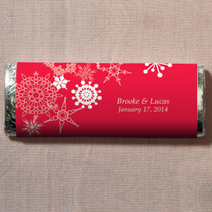 Winter Finery Nut Free Gourmet Milk Chocolate Bar Red