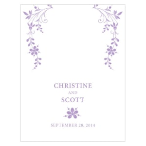 Forget Me Not Place Card With Fold Lavender
