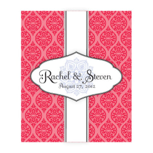 Moroccan Rectangular Label Red