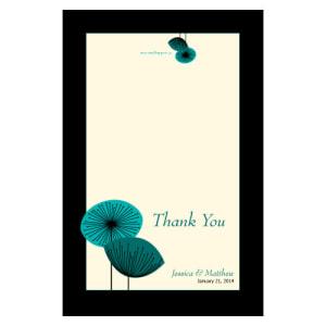 Romantic Elegance Thank You Card Oasis Blue
