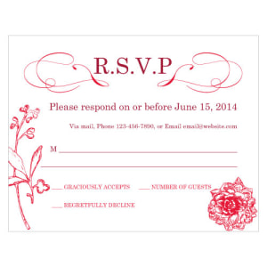 French Whimsy RSVP Red