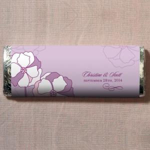 Pinwheel Poppy Nut Free Gourmet Milk Chocolate Bar Purple