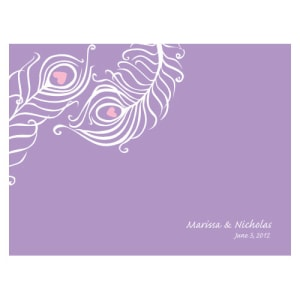 Perfect Peacock Note Card Lavender