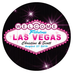 Las Vegas Large Sticker Dark Pink