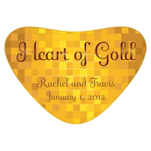 Heart of Gold Heart Container Sticker