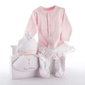 BA16010PK-Big Dreamzzz Baby Ballerina 2 Piece Layette Set-Personalization available at an additional cost-