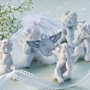 Little Angel Cherub Figurine Favors Set Of 4