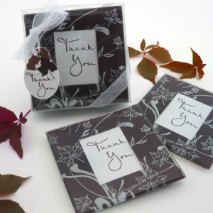 Falling Leaves Leaf Themed Glass Photo Coasters Set Of 2