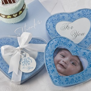 True In Blue Heart Glass Photo Coasters Set Of 2
