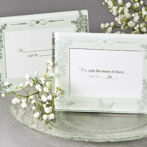 Shimmering Crystals Mini Photo Frame Place Card Holder Pack Of 4