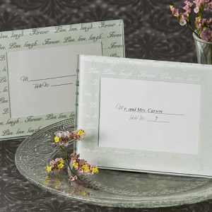 Live, Love, Laugh… Frosted Mini Photo Frame Place Card Holder Pack Of 4