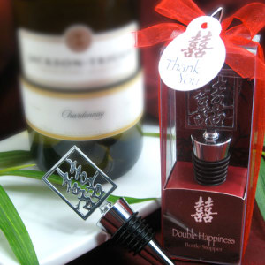 Double Happiness Shuang Xi Bottle Stopper In Harmony Gift Box