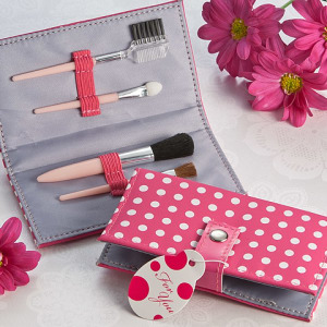 Pretty In Pink Polka Dot Makeup Brush Kit