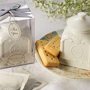 Victorian Tea Porcelain Tea Caddy