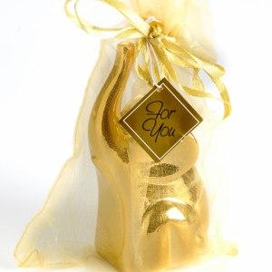 Lucky Elephant Ring Holder In Gold 4 Pack
