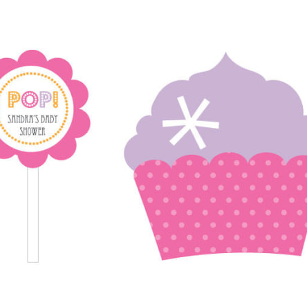 Going To Pop Pink Cupcake Wrappers & Cupcake Toppers Set Of 24