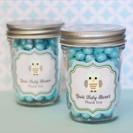 Blue Owl Personalized Mini Mason Jars