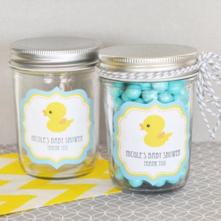 Rubber Ducky Personalized Mini Mason Jars