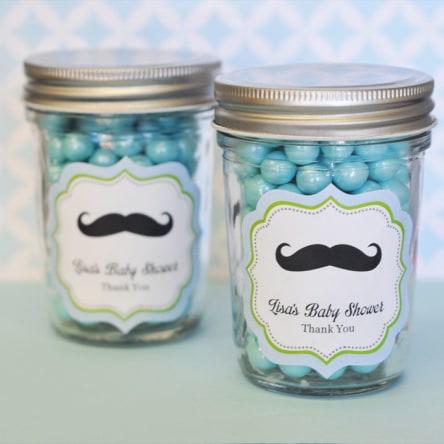 Little Man Party Personalized Mini Mason Jars